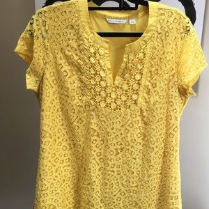 Beautiful eyelet lined top